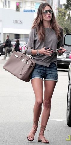 Alessandra Ambrosio media gallery on Coolspotters. See photos, videos, and links of Alessandra Ambrosio. Alessandra Ambrosio, Hermes Birkin, Look Short, Looks Street Style, Fashion Articles, Trends, Celebs, Celebrities, Look Chic