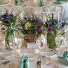 ANOTHER PURPLE CENTER PIECE OPTION.  WE CAN SWITCH UP THE TABLES. DO LIKE AN A/B PATTERN