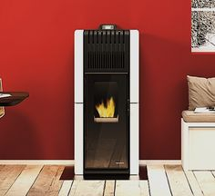 #palazzetti Nadia #wood #pellet #stove. For more information http://www.nutechrenewables.com/space-heating-wood-pellet-stoves/palazzetti-ecofire-nadia-wood-pellet-stove/