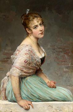 Eugene de Blaas. (1843-1932), Contemplation