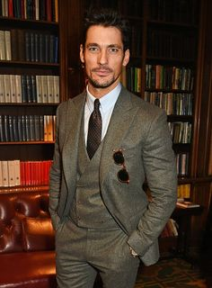 David Gandy at the Pringle Of Scotland Menswear A/W 2016 show during London Collections Men on Jan