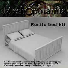 This kit consists of 7 individual meshes with strong LOD and logical unwrapping. 9 AO maps are included Meshopotamia's meshes are carefully . Rustic Bedding, Toddler Bed, Kit, Bedroom, Furniture, Home Decor, Rustic Bed, Child Bed, Country Bedding