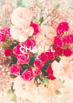 chanel, flowers, and pink image Cute Wallpaper Backgrounds, Flower Wallpaper, Phone Backgrounds, Cute Wallpapers, Iphone Wallpaper, Chanel Background, Chanel Wallpapers, Image Tumblr, Graphisches Design