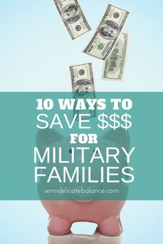 Saving money on a military budget is about knowing and using your resources. Here are 10 ways to save money for military families. Ways To Save Money, How To Get Money, Money Saving Tips, Money Tips, Military Spouse Benefits, Military Discounts, Veterans Discounts, Navy Life, Military Families