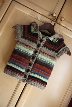 Ravelry: Treefort Jacket pattern by Megan Grewal  earthy colors, textured stripes
