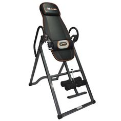 #GetintheGame Relaxing, therapeutic heat and massage lumbar pad Heavy-duty 300 lb. weight capacity Adjusts to accommodate up to 6'5″ users 3-position side inversion adjustment pin Relieves back pain, tension and stress Folds for easy storage