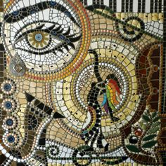 Woman of the olive groves | Julie Mosaics