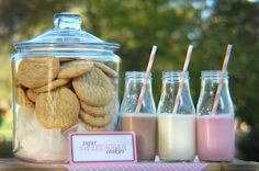 milk and cookies via Amy Atlas blog done by Sweeten your day events