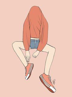 Witty, relatable and inspiring illustrations by Rebecca Flattley Art Anime Fille, Anime Art Girl, Art Vintage, Vintage Art Prints, Art Et Illustration, Character Illustration, Aesthetic Anime, Aesthetic Art, Pretty Art
