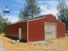 Agriculture Barn - Agricultural steel building - call for a quote Steel Barns, Steel Fabrication, Iron Steel, Building Systems, Construction Design, Steel Buildings, Agriculture, Cover Design, Garage Doors