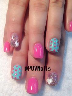Fabulous Nails, Gorgeous Nails, Pretty Nails, Nails For Kids, Girls Nails, Manicure Colors, Nail Colors, Fancy Nails, Love Nails