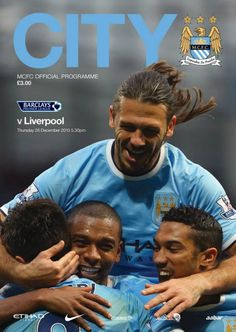 City v Liverpool Boxing Day matchday programme front cover #mcfc #manchester #city