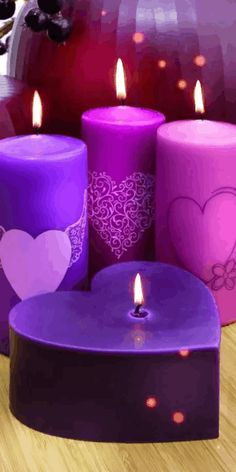 Purple Candles, Cute Candles, Beautiful Candles, Best Candles, Diy Candles, Scented Candles, Pillar Candles, Decorative Candles, Luxury Candles