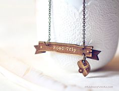 Hey, I found this really awesome Etsy listing at https://www.etsy.com/listing/168815270/road-trip-banner-necklace-travel-best