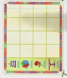 Bingo de palavras com cartelas