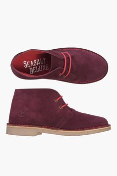 Very classic Desert Boots, Seasalt style. Made from very soft suede leather, with a comfortable fit, fun contrast colour stitching and rubber sole.