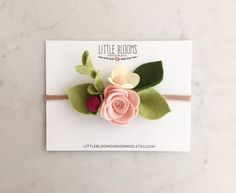 This listing is for one whimsical felt bloom headband. Blooming strawberries inspired this design   Shades of blush pinks and berry are