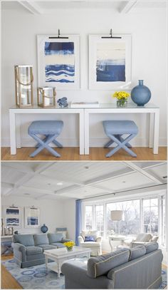 Stools under the Console Table