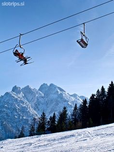 The famous Kranjska Gora ski resort