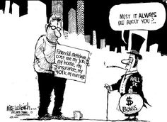 Economic Cartoons: Wall Street vs. Main Street
