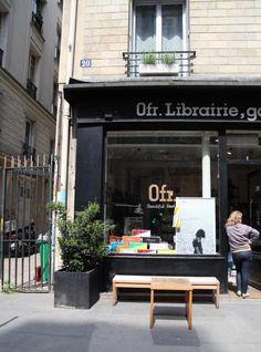 Ofr bookstore Paris, in the Marais