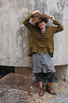 Wabi Sabi Pullovers — Cara May Knits Boho Fashion, Fashion Outfits, Magnolia Pearl, Hand Knitted Sweaters, Sewing Clothes, Sewing Men, Men Clothes, Pullover, Wabi Sabi