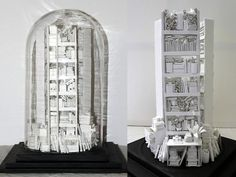 """junkculture: """"The Writer's Block Library"""" is a miniature library made entirely out of paper!"""