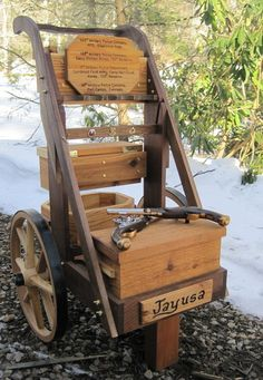 Custom Action Western Shooter Gun Carts by Handcrafted Western Wagons | CustomMade.com