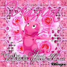{Uniqua in Vintage Art Blingee} The Backyardigans Nick Jr UNIqua the pink Ladybug*!!!