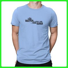 Teeburon Water is almost gone drink Bourbon T-Shirt - Food and drink shirts (*Amazon Partner-Link)