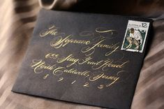 Hand Calligraphy Envelope Address Greeting Cards Flourish by schin