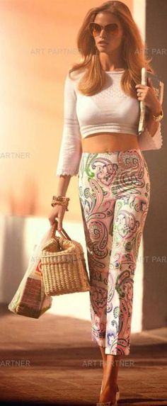 def had a similar outfit that i wore like once a month in high school... almost exact same paisley capris! LOL, literally!