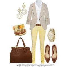 Couldn't pull off the yellow skinny pants (probably literally as well as figuratively), but love the look.