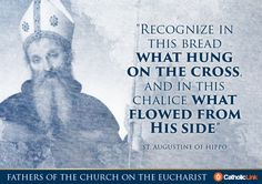 The Early Church fathers knew that the Eucharist was not a symbol--it was truly the Body and Blood of Christ.