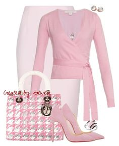 A fashion look from September 2015 featuring summer tops, pink skirt and slip-on shoes. Browse and shop related looks. Pink Fashion, Love Fashion, Fashion Dresses, Womens Fashion, Fashion Trends, Classy Outfits, Chic Outfits, Pretty Outfits, Christian Dior