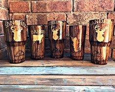CUSTOM GLITTER TUMBLERS AND MORE by GUNSANDGLITTERPEARLS on Etsy Diy Tumblers, Custom Tumblers, Glitter Tumblers, Glitter Cups, Tumbler Designs, Personalized Cups, Tumbler Cups, Groomsman Gifts, Gifts For Husband