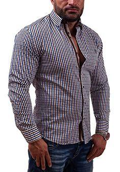 Amazon BOLF 5741 Schwarz-Rot S  2B2  Herrenhemd Freizeithemd Langarm Slim  Fit Figurbetont New 5741  . Herren Hemden 92ba6bd424