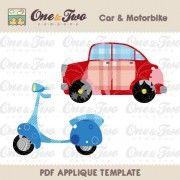 Car & Motorbike Applique Template