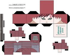 Another Cool Naruto Papercraft Origami Naruto, Naruto Birthday, 3d Pokemon, Paper Doll Template, Anime Crafts, Anime Dolls, Gaara, Paper Models, Paper Toys