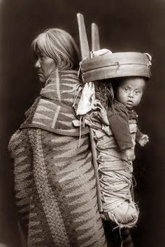 Navajo woman and child, 1914