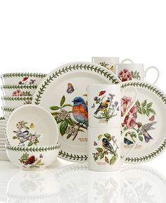 Portmeirion Dinnerware, Botanic Garden Birds Collection