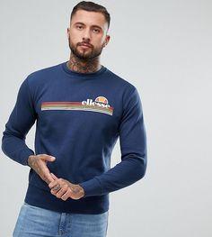 c87fd328fc Ellesse Tiberio Crew Neck Sweatshirt In Navy - Navy Ellesse