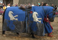 In the renaissance era, people rode horses to war. They decorated and bred them specifically for style and fighting.