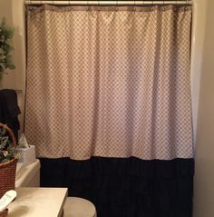 A personal favorite from my Etsy shop https://www.etsy.com/listing/225490851/tan-pattern-shower-curtain-with-black