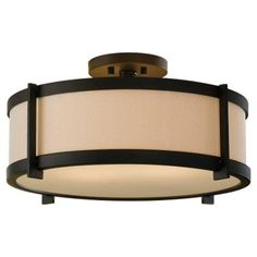 Feiss, Stelle 2-Light Oil Rubbed Bronze Semi Flush Mount, SF272ORB at The Home Depot - Tablet