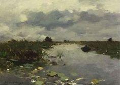 Hendrik Johannes Weissenbruch - Polderlandschap in de buurt van Kortenhoef
