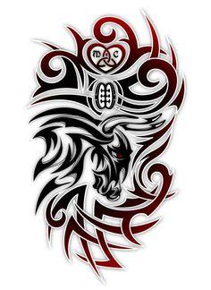 Tribal Drawings, Tattoo Drawings, Japanese Tattoo Koi, Smal Tattoo, Tribal Cross Tattoos, Sheep Skull, Cool Symbols, Stammestattoo Designs, Taurus Tattoos