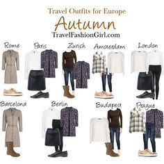 The Ultimate Packing List for Backpacking Europe in Autumn – european travel outfit summer Europe Travel Outfits, Fall Travel Outfit, Travel Wear, Travel Style, Travel Fashion, Fall Travel Wardrobe, Travelling Outfits, Travelling Tips, Travel Capsule