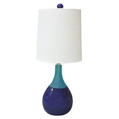 Graphic Appeal Blue 21 Inch High Malibu Accent Lamp Couture Accent Lamp Table Lamps Lamps