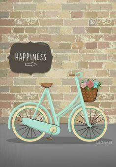 Happiness → (bicicleta) dibujo hecho por anni (papper pop)